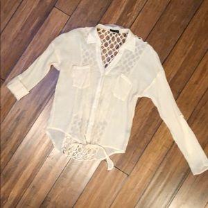 Crochet back blouse
